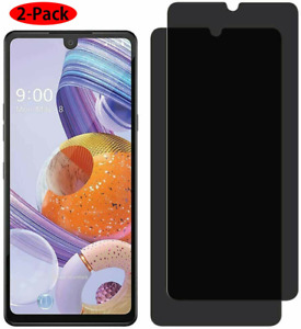 2x For LG Stylo 6 Full Coverage Screen Protector Tempered Glass Anti-Spy Privacy