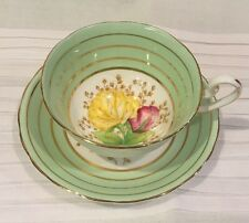 Hand Painted Bone China Cup & Saucer, C & E, Victoria