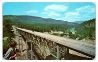 1950s/60s Moyie Canyon Bridge, Bonners Ferry, ID Postcard