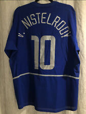 2002/03 Manchester United Nike Third Blue Ruud van Nistelrooy Jersey Large