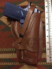FITS Ruger Remington M1911 Leather Holster Wild Bunch Style Western Holster Used