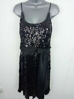 NEW WOMENS IRRESISTIBLE GORGEOUS FIT & FLARE EVENING DRESS GLITTER BOW BLACK 12