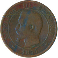 COIN / FRANCE / 10 CENTIMES 1854 NAPOLEON III. #WT5476