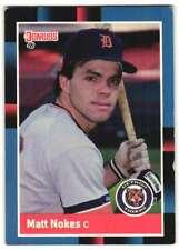 1988 Leaf Matt Nokes Detroit Tigers #60