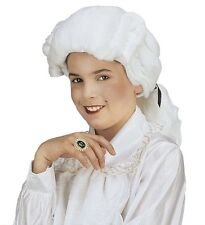 Childs Colonial Wig White 18th Century Peruke Civil War Mozart Judge Fancy Dress