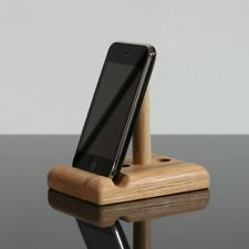 Adjustable solid oak wood phone Stand, Universal support, iPhone, Samsung, etc