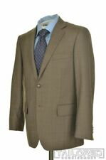 SARTORIA TOSI Solid Brown SUPER 150's Wool Jacket Pants SUIT Mens - 40 S