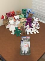 1990s & 2000s TY Beanie Babies Assorted Bears Lot Of 19