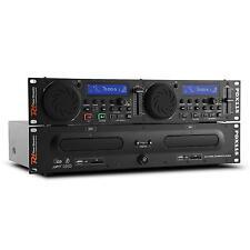 "PROFESSIONAL DUAL DJ CD DECK CONTROLLER SD USB LIVE DISCO STAGE 19"" EQUIPMENT"