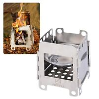 Wood Alcohol Stove Outdoor Stainless Steel Folding Stove Camping Cooking Utensil