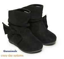 NWT Garanimals Infant/Toddler Baby Girls' Black Slip-on Bow Slouch Boots 3 4 5 6