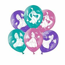 6 Disney Princess Lattice Palloncini Festa di Compleanno Decorazione Belle Ariel Rapunzel
