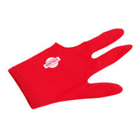 Red Spandex Billiards Left Hand Glove for Pool Cue Sticks Snooker Accessory