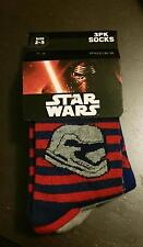 Star Wars The Force Awakens 3 Pairs Kids Socks Size 2-5 BNWT Stormtrooper