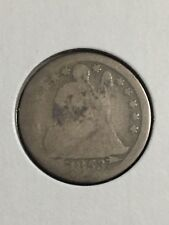 1853-P With Arrows  Silver Seated Liberty Dime about AG Condition