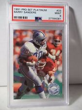 1991 Pro Set Platinum Barry Sanders PSA Mint 9 Football Card #33 NFL