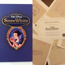 Disney Snow White & Seven Dwarfs Limited Edition Book & 8 Lithographs Drawing