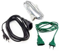 Verlängerungskabel Verlängerung Strom-Kabel Euro-Stecker 1,5m, 3m, 5m, 10m