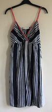 H&M Size Euro 36 Ladies Sleeveless Blue & White Striped Summer Dress