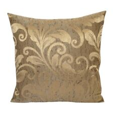 Linen Leaves Pattern 18x18 Brown/Gold Decorative/Throw Pillow Case/Cushion Cover