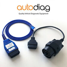 BMW USB K+DCAN Diagnostic & Coding Cable Tool & 20 PIN Adapter ✧ K+D Switched