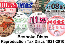 Replica / Reproduction Road Tax Disc Vintage Vehicle 1921-2010  Bespoke Stamp