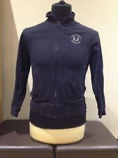 Fred Perry Zipped Jacket, Black, Size Youths Medium (M2418)