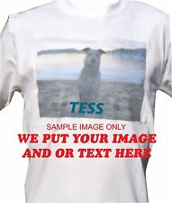 Printed t-shirt with your full colour image on 100% Cotton pre shrunk 200GSM