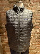 NWT Men Patagonia Nano Puff Vest Forge Grey (Size Large)