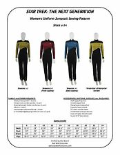 Star Trek Sewing Pattern - Starfleet Uniform Jumpsuit - TNG (Women's)