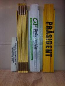Gliedermaßstab Maßstab 2m Holz 3X, 1m Kunststoff