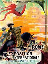 ADVERT EXHIBITION EXPOSITION INTERNATIONAL 1911 ROME ITALY FRANCE POSTER CC6091