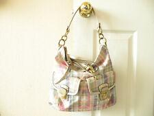 Authentic Coach Poppy Daisy Madras Plaid Shoulder or Crossbody Bag 23393