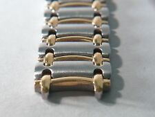 Genuine Movado links (10pcs), 14mm two toned, used, high-quality/heavy