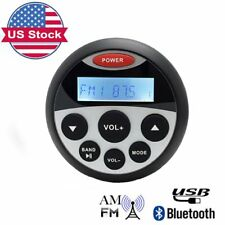 Marine Radio Bluetooth Stereo Gauge Audio USB Mp3 Player Head Unit Receiver
