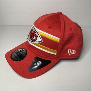 Kansas City Chiefs New Era Retro Stripe NFL Hat Stretch Fit L/XL NEW NWT