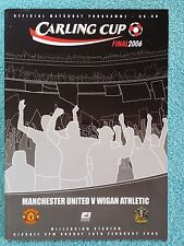 2006 - LEAGUE CUP FINAL PROGRAMME - MANCHESTER UNITED v WIGAN - V.G CONDITION