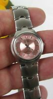 NEW Swiss Military Womens Stainless Steel Pink Dial Quartz Watch SWISS MADE
