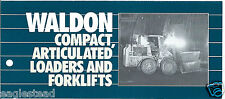 Fork Lift Truck Brochure Waldon 4100 et al Product Line Overview Loader (Lt254)