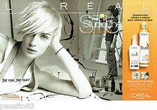 PUBLICITE ADVERTISING  046  2006  Spray sculpteur de l'Oréal (2p) Studio Go Crea