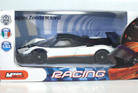 MondoMotors Pagani ZONDA R EVO B/White - RACING Metal 1:43