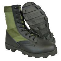 US Military GI Boots, Hot Weather Jungle Panama Sole Olive Drab/Black