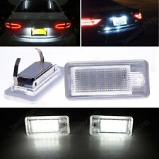 Audi A3 8P A4 S4 B6 B7 A6 4F A8 4E 4H Q7 4L LED License Number Plate Light Lamps