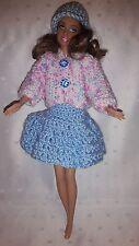 Puppenkleidung.passend für Barbiepuppe, Rock,Jacke,,Käppi 6296 Handarbeit