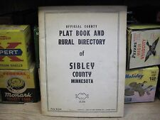 1958 SIBLEY COUNTY MINNESOTA MN PLATE BOOK AND  RURAL DIRECTORY FARM MAP