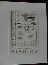 classic fishing sample gift litho art print vintage picture for fisherman 11x14