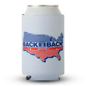 Back to Back World War Champs Rowdy Gentleman Grey Can Cooler Grey