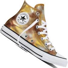 Scarpe da ginnastica tessile Converse in oro per donna
