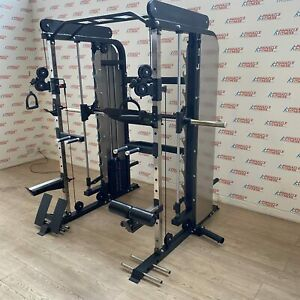 Functional Trainer With Power Rack Dual Pulley / Smith Machine / Power Rack