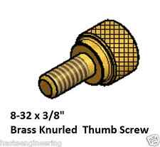 """8-32 x 3/8"""" Knurled Thumb Screw (10 Pieces) Solid Brass"""